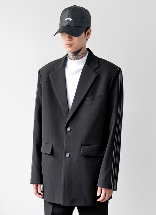 サイドステッチオーバーフィットジャケット