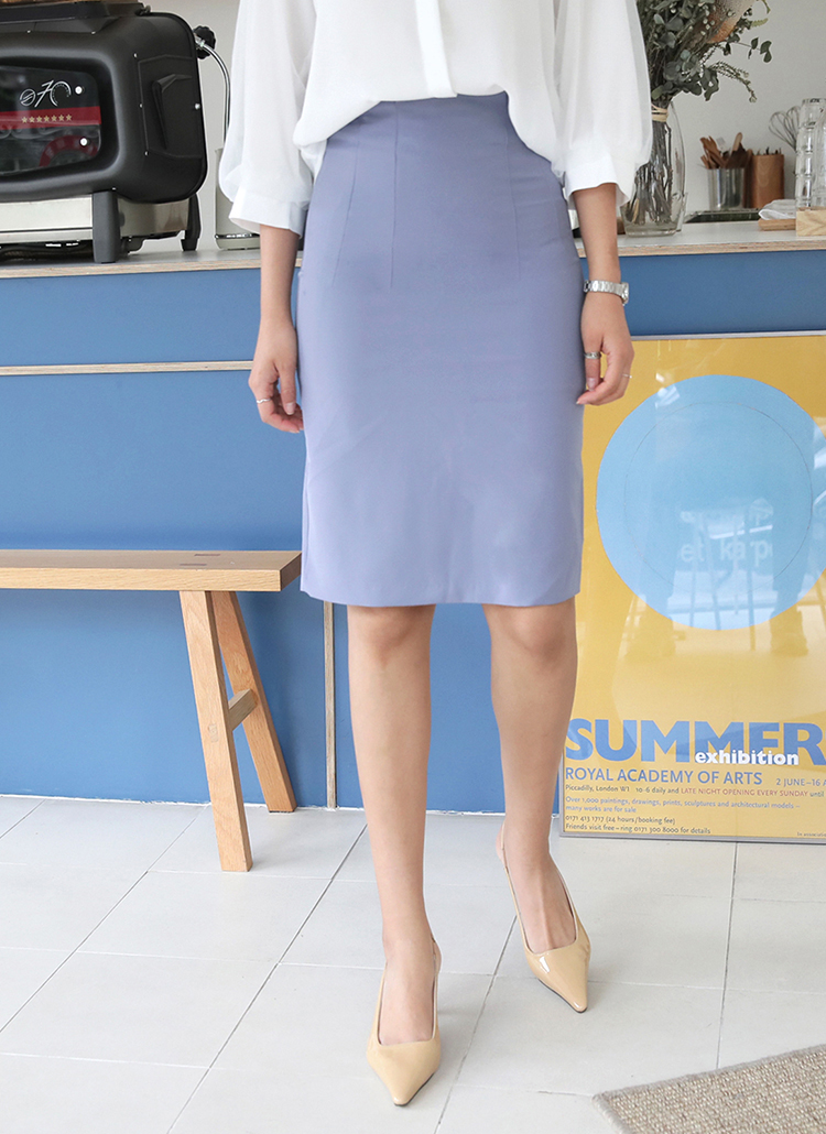 ミディ丈Hラインスカート・全3色