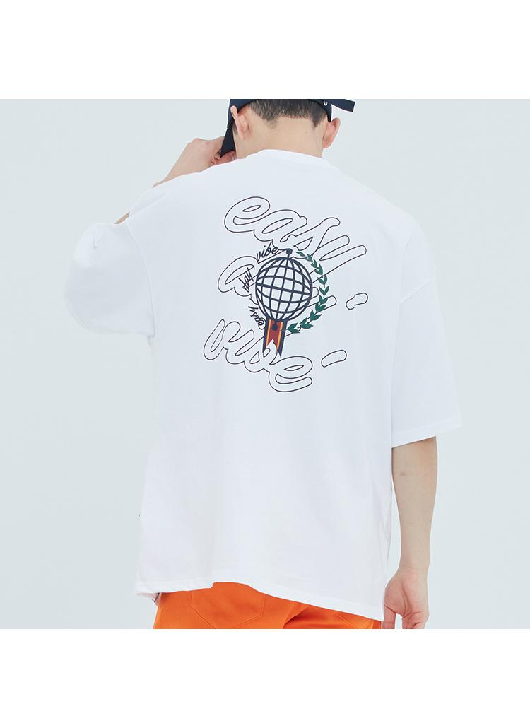 Easy Dayバックロゴ半袖Tシャツ(ホワイト)