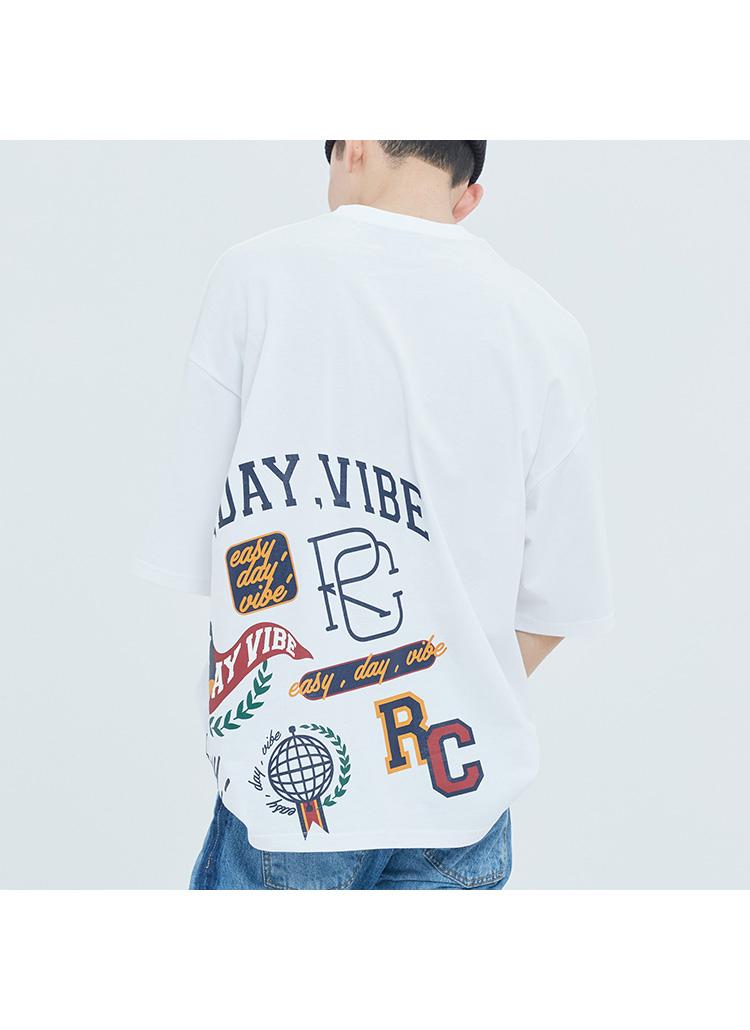 E.D.Vチームロゴ半袖Tシャツ(ホワイト)