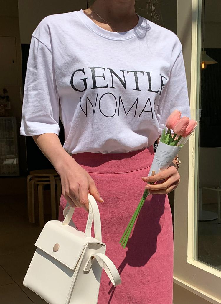 GENTLEプリント半袖Tシャツ