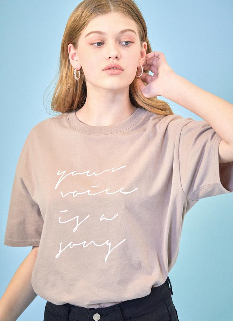 LOVE LETTER半袖Tシャツ(ベージュ)