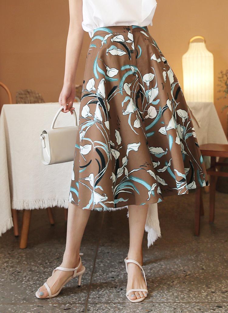 ボタンプリントスカート・全3色