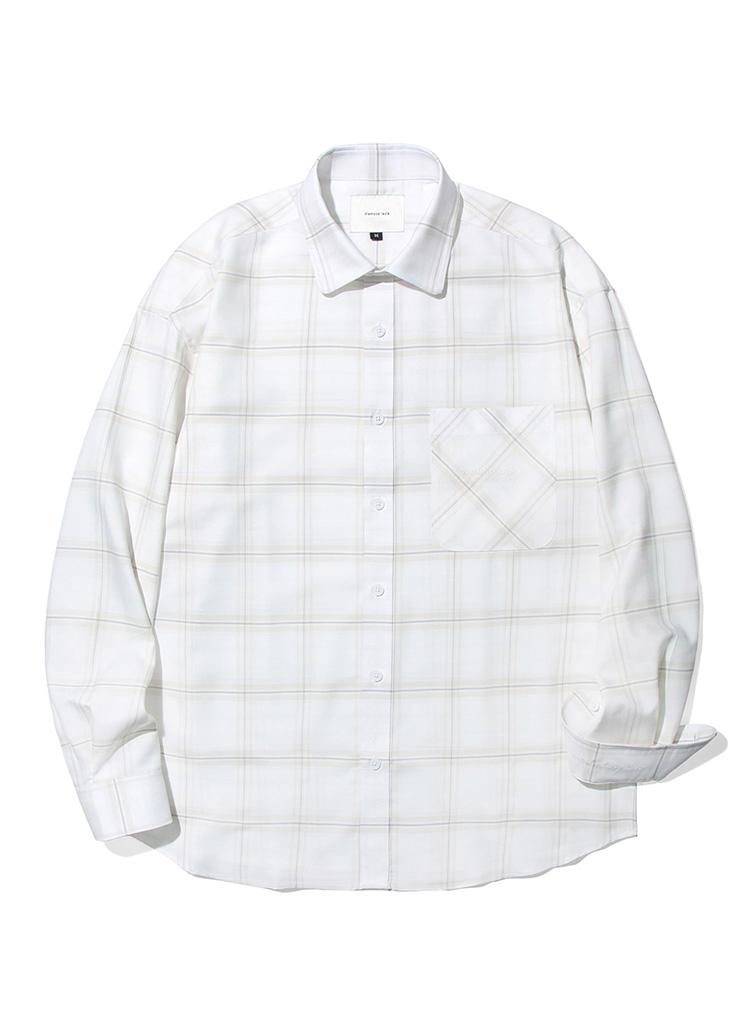 フラットホワイトムードシャツ