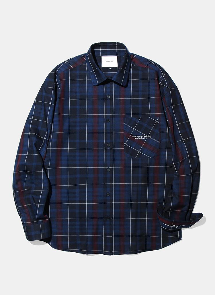 ディープムードチェックシャツ