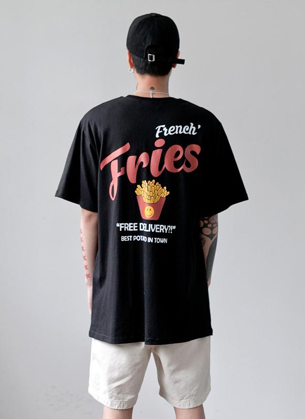 フレンチフライロゴハーフスリーブTシャツ