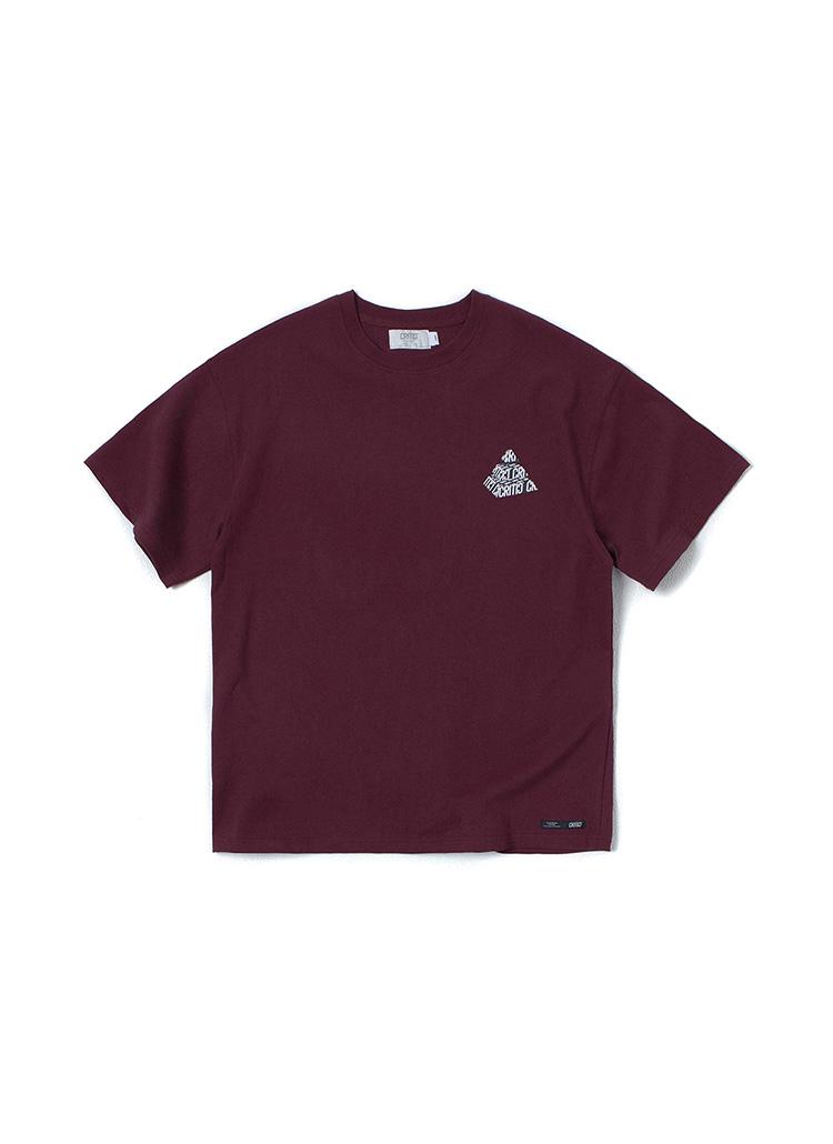 ピラミッドロゴTシャツ(バーガンディ)