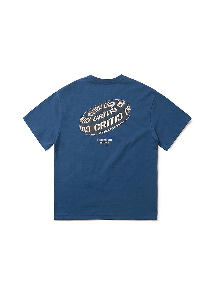 <font color=red><b><予約商品></b></font>ブラックホールロゴTシャツ(ダークブルー)