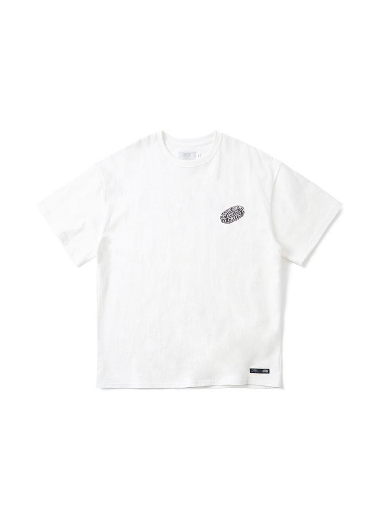 <font color=red><b><予約商品></b></font>ブラックホールロゴTシャツ(ホワイト)