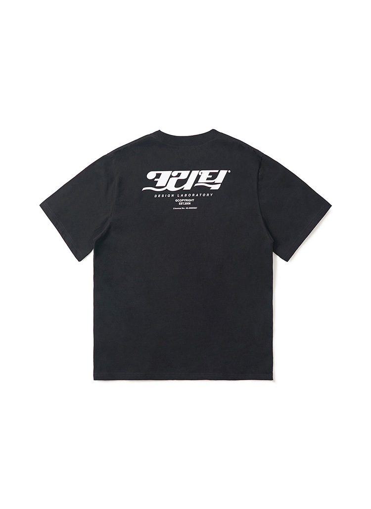 コリアンロゴTシャツ(ブラック)