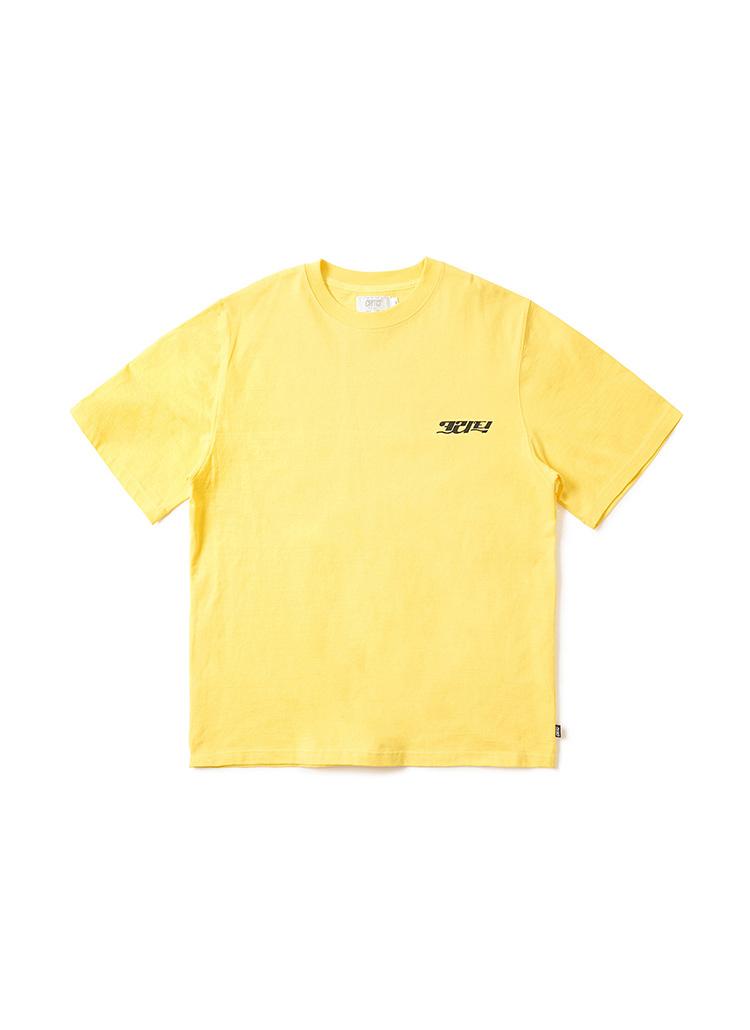 コリアンロゴTシャツ(レモンイエロー)