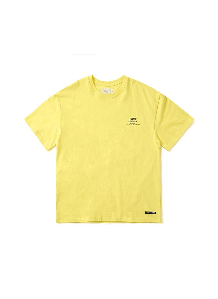 メタルロゴTシャツ(レモンイエロー)