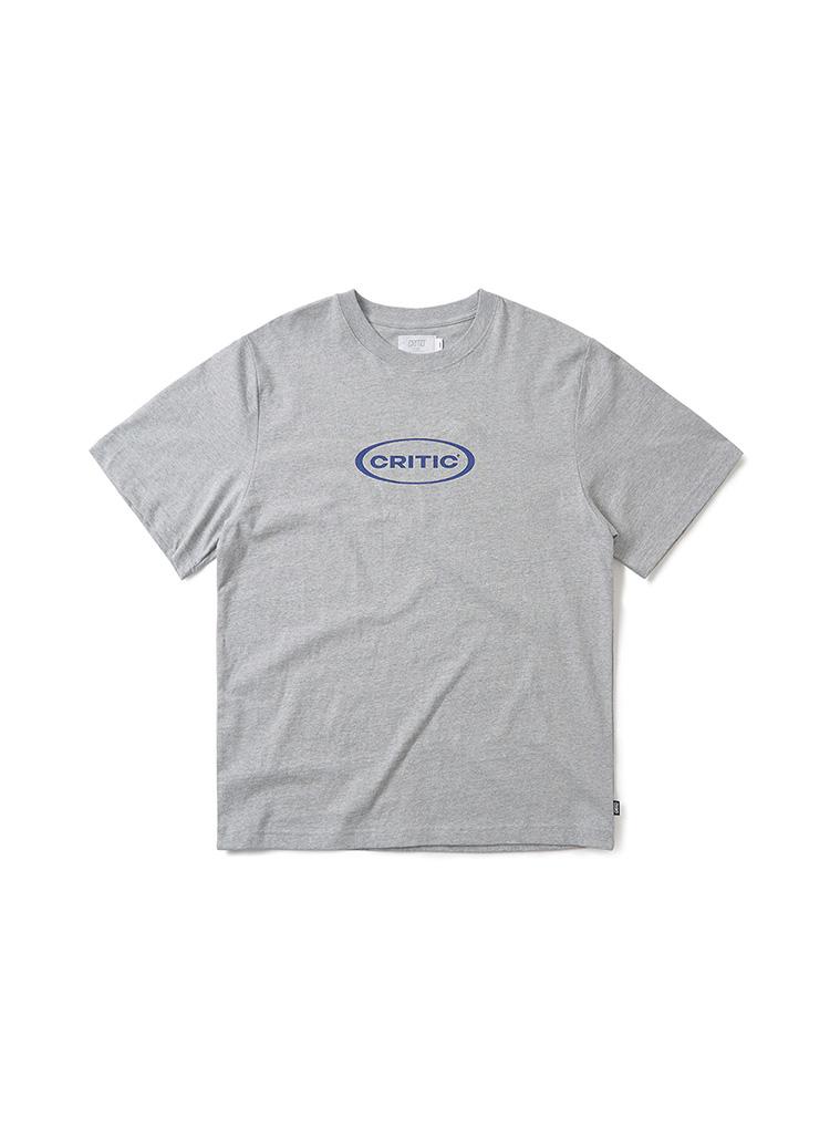 オーバルロゴTシャツ(ミックスグレー)