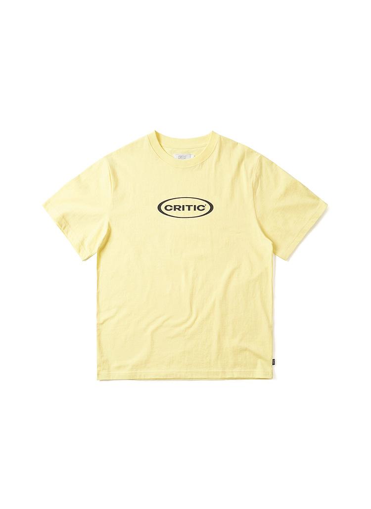 オーバルロゴTシャツ(パステルイエロー)