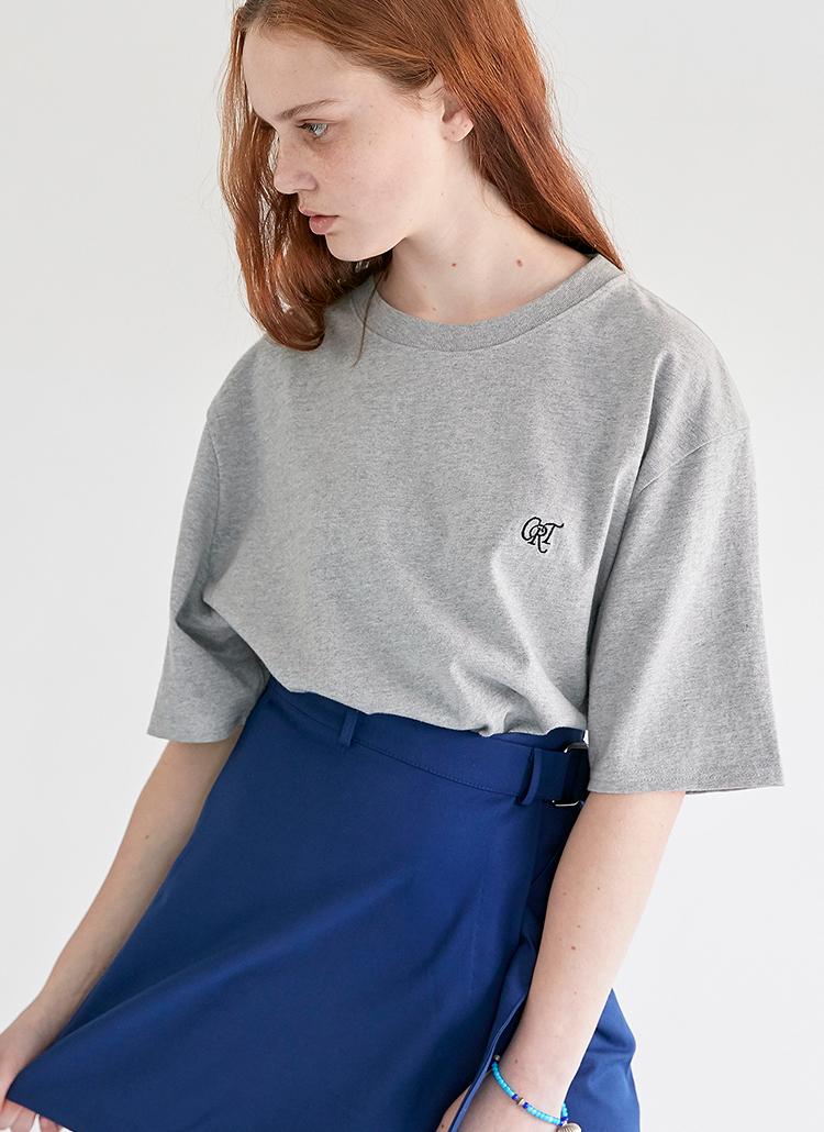 CRTロゴTシャツ(ミックスグレー)