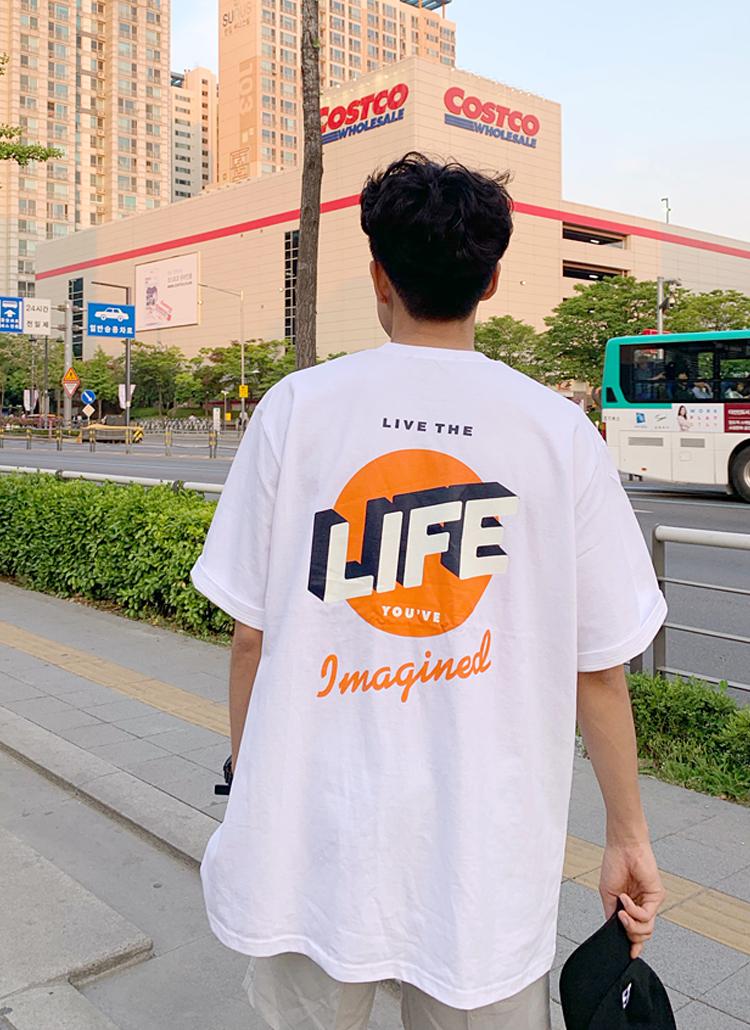 LIFEバックロゴTシャツ