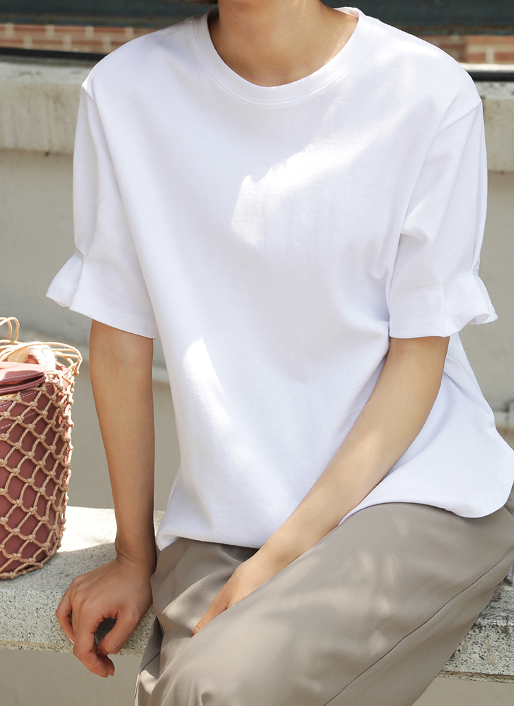 タックステッチスリーブTシャツ・全3色