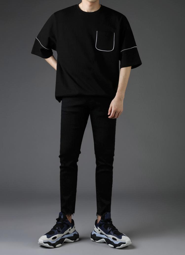 パイピングラインハーフTシャツ