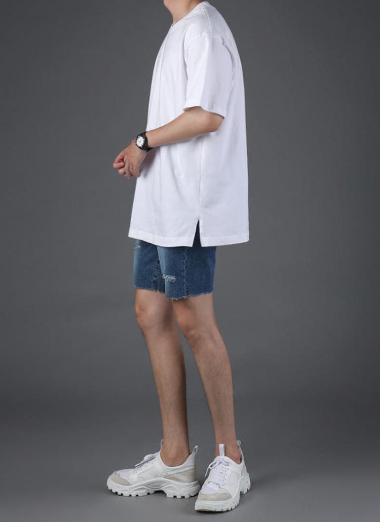 スリットオーバー半袖Tシャツ