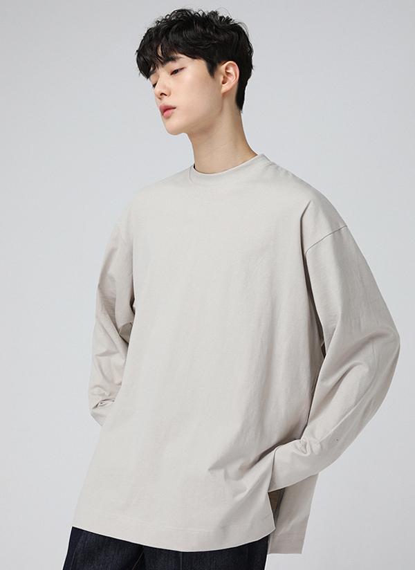 深スリット長袖Tシャツ