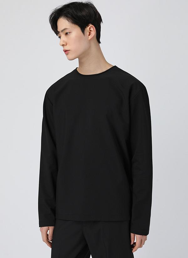 スリットラウンドネック長袖Tシャツ