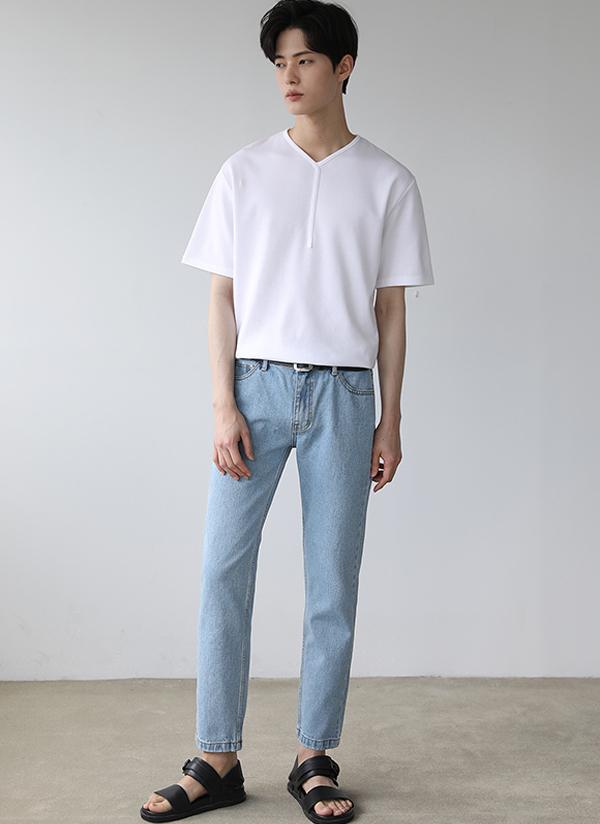 YラインネックTシャツ