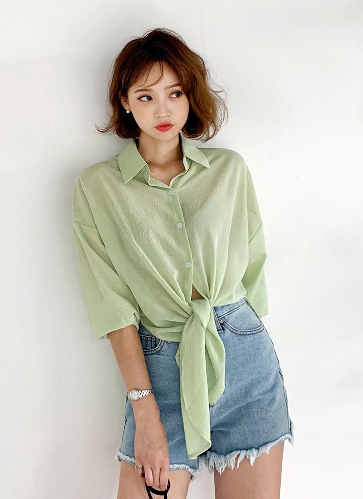 リンクルシアーシャツ・全3色