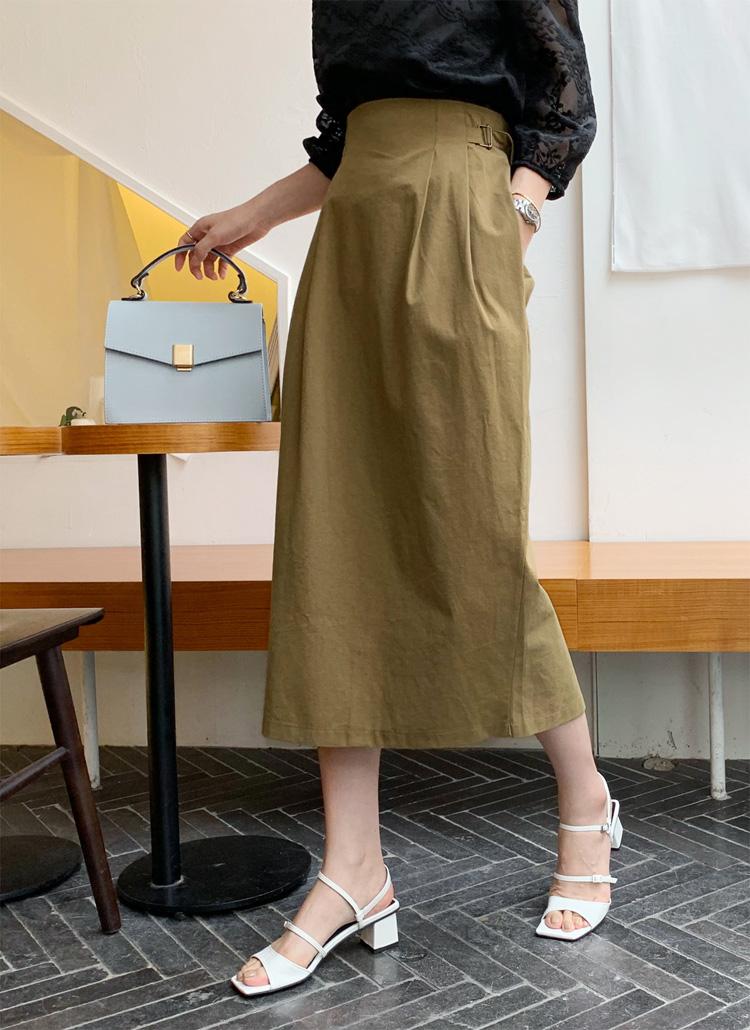 サイドベルトスカート・全3色