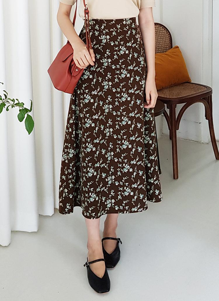 花柄フレアスカート・全3色