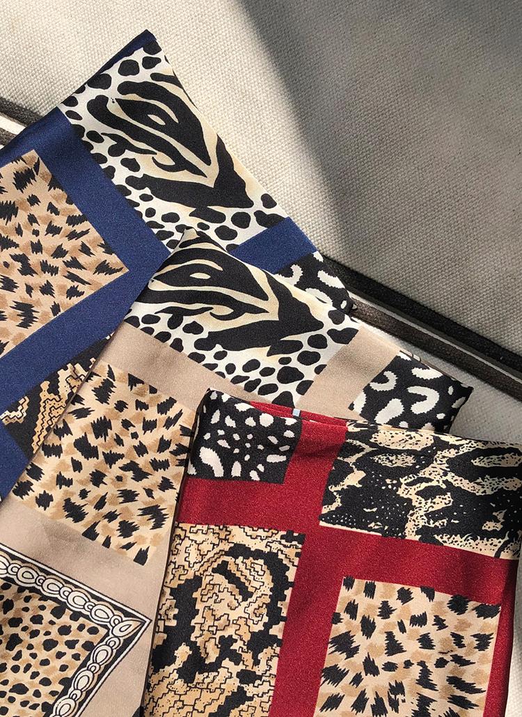 アニマルパターンスカーフ・全5色