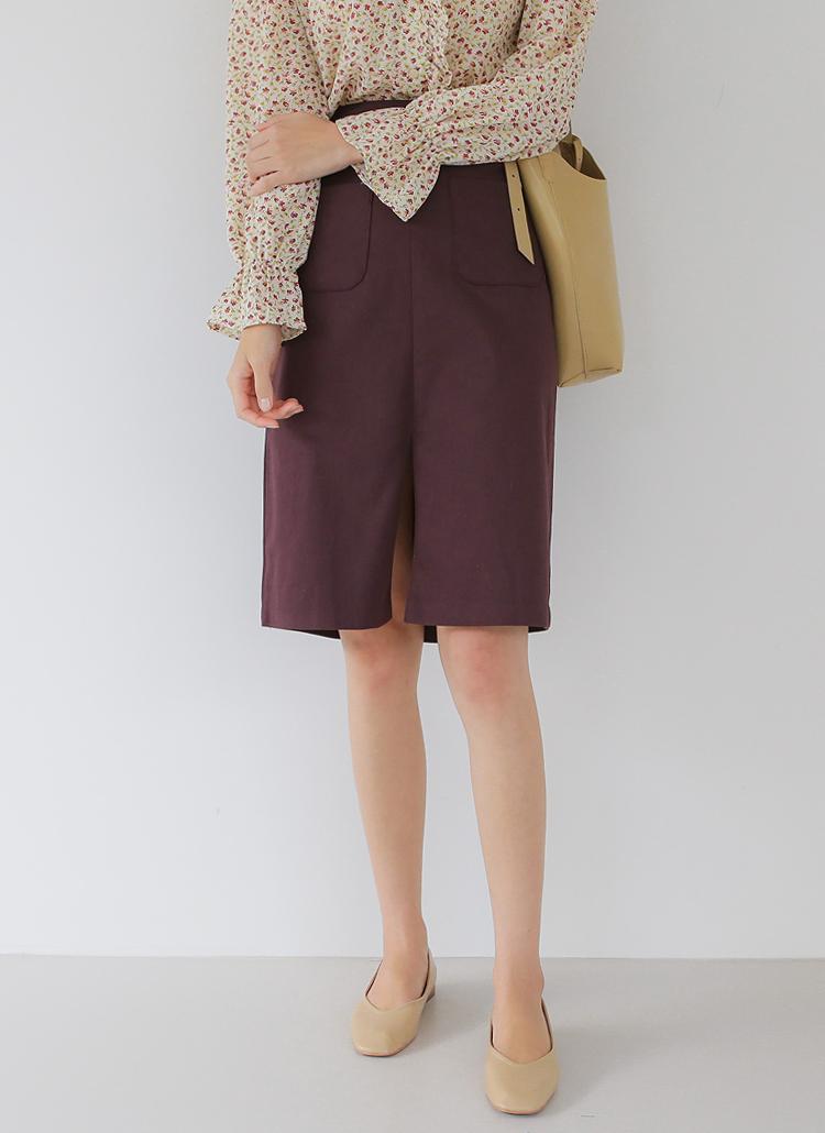 ポケットスリットスカート
