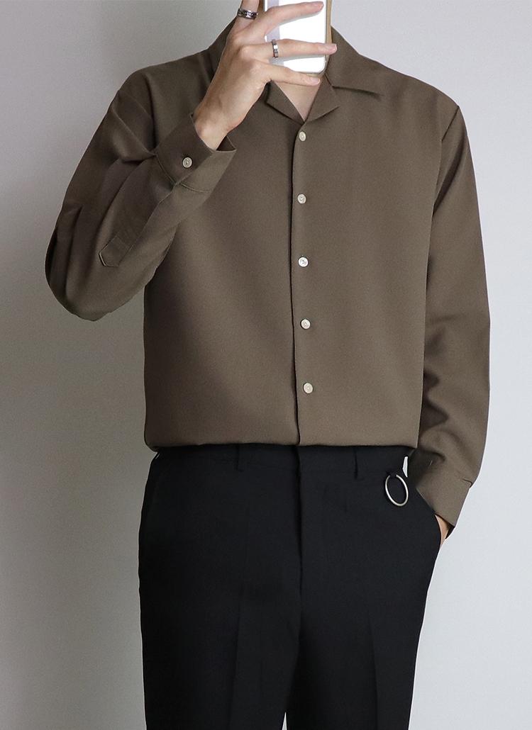 8COLORS開襟シャツ
