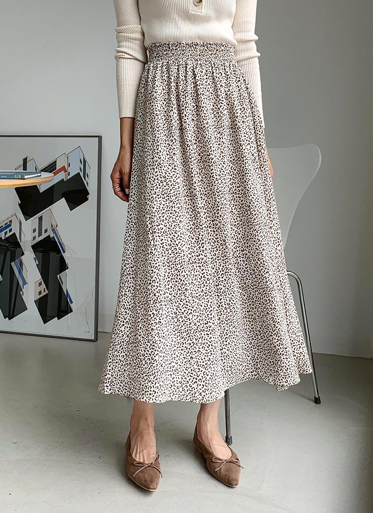 レオパードフレアスカート・全3色