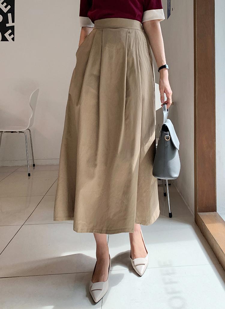 タックフレアスカート・全2色