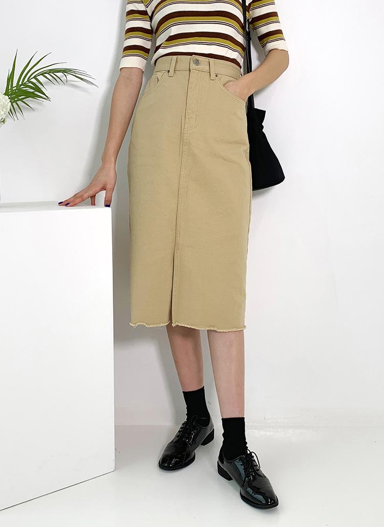 フレイドスリットスカート・全2色