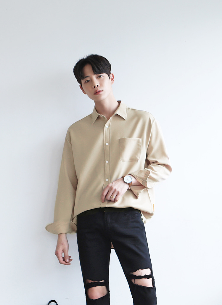 8COLORSワンポケットシャツ
