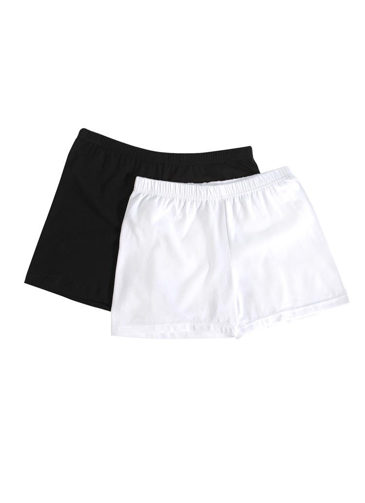 綿混紡素材シンプルインナーパンツ・全2色