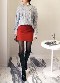 <DHOLIC オリジナル>A/Wベーシックタイトミニスカート・全5色