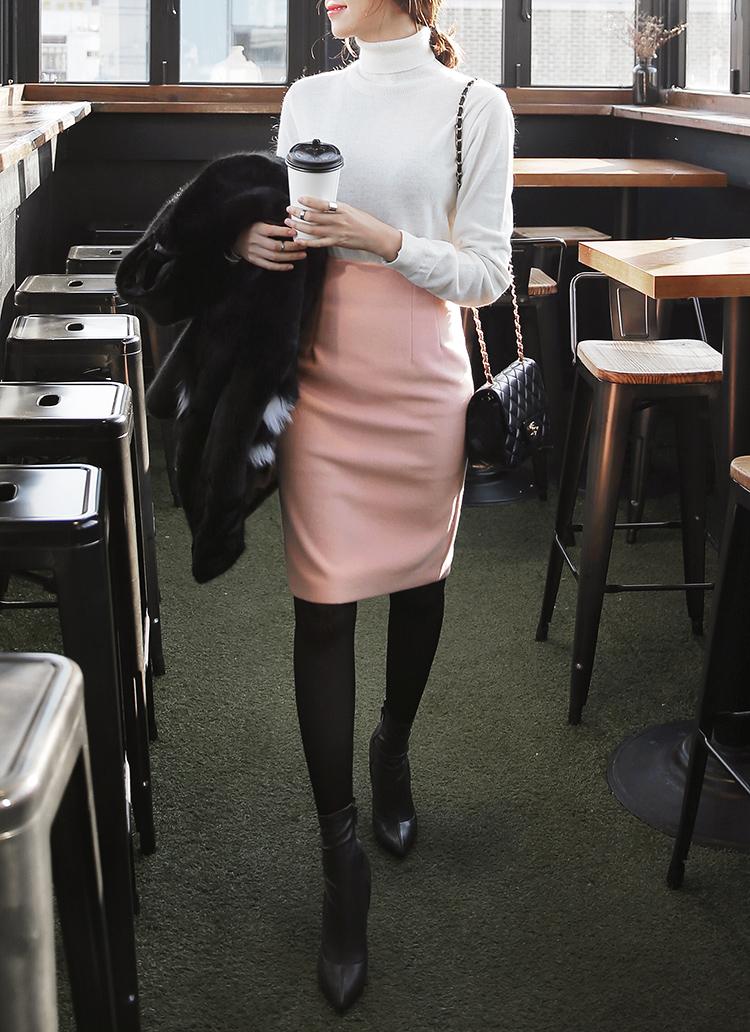 タックミディタイトスカート・全6色