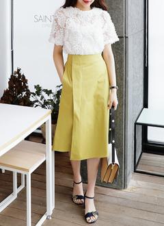 バックゴムアンバランスAラインスカート・全3色