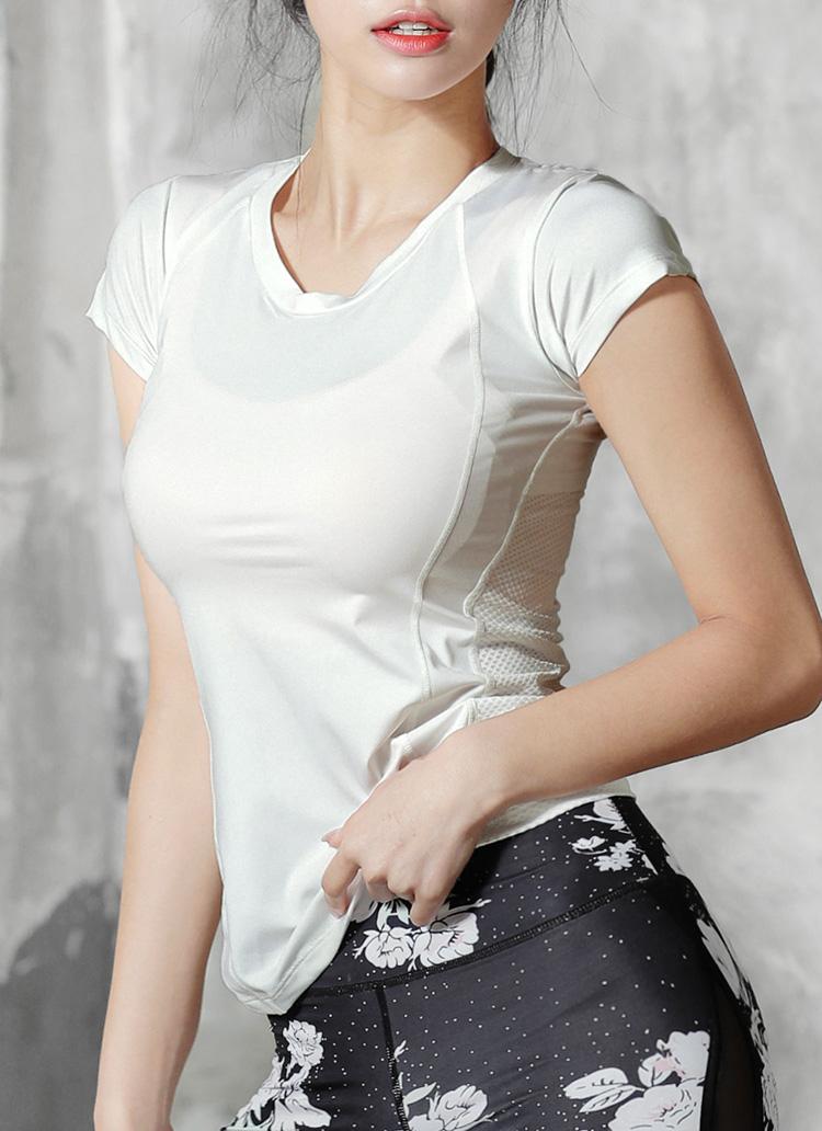 バックメッシュショートスリーブTシャツ・全3色