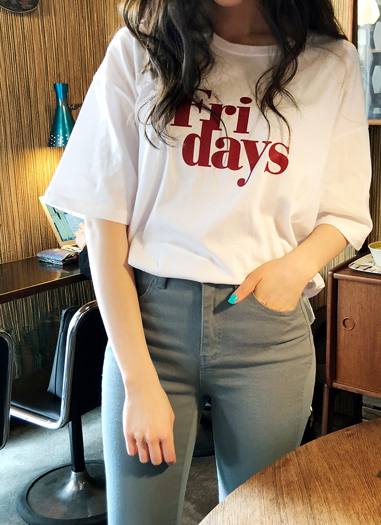 Fri daysハーフスリーブTシャツ・全4色