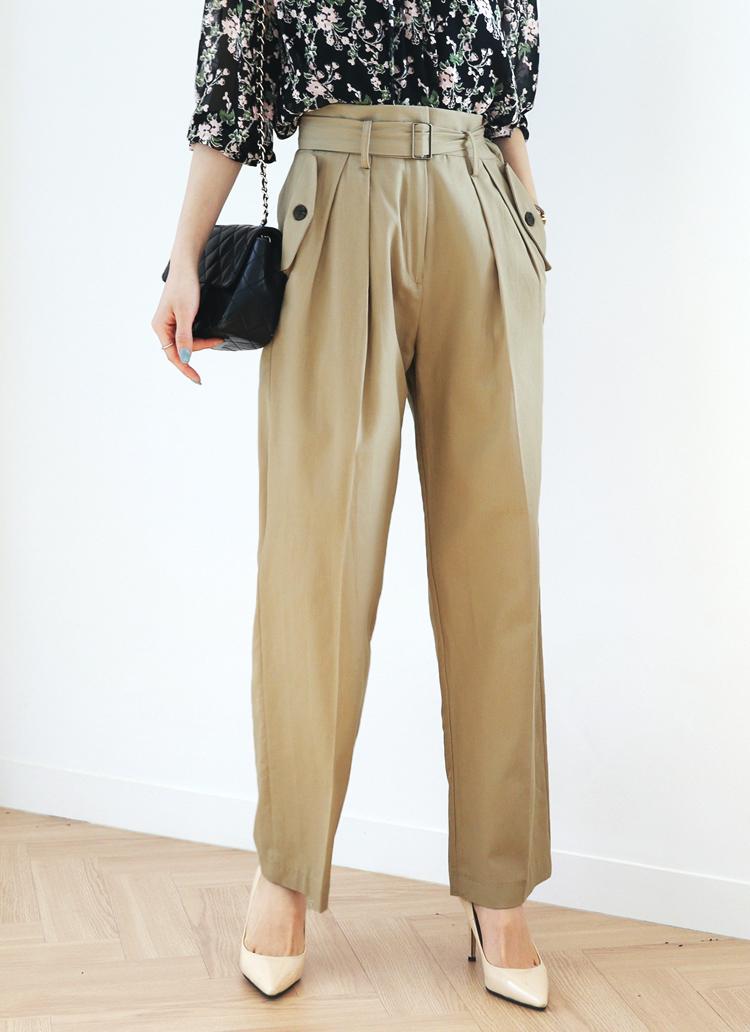 ベルトSETフラップポケットパンツ・全2色