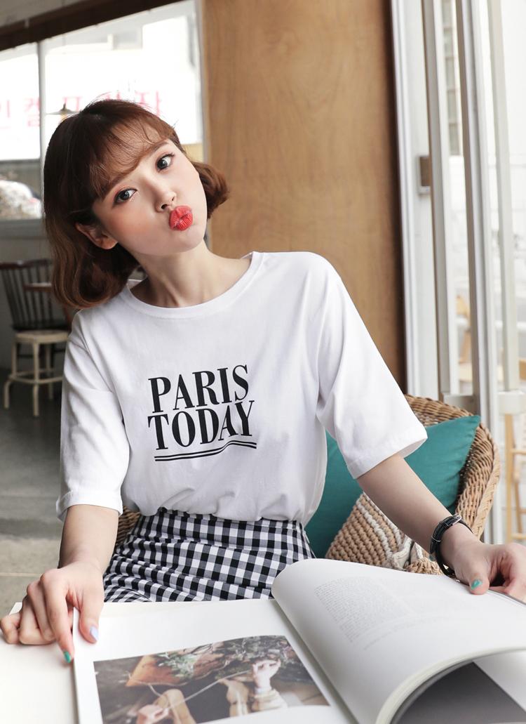 PARIS TODAYラウンドTシャツ・全3色