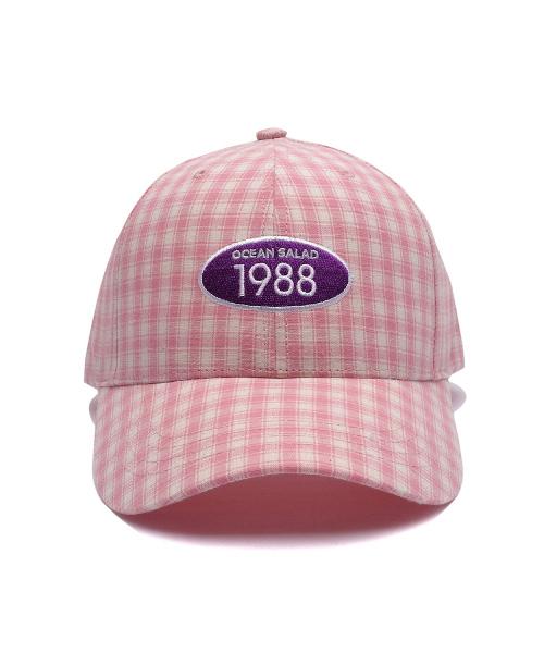 *Default*チェックパターン1988キャップ(ピンク)