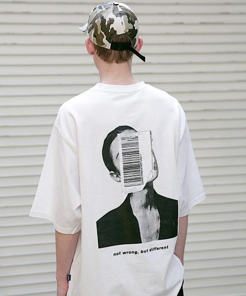 *Massnoun*アピアランスオーバーサイズTシャツ(ホワイト)
