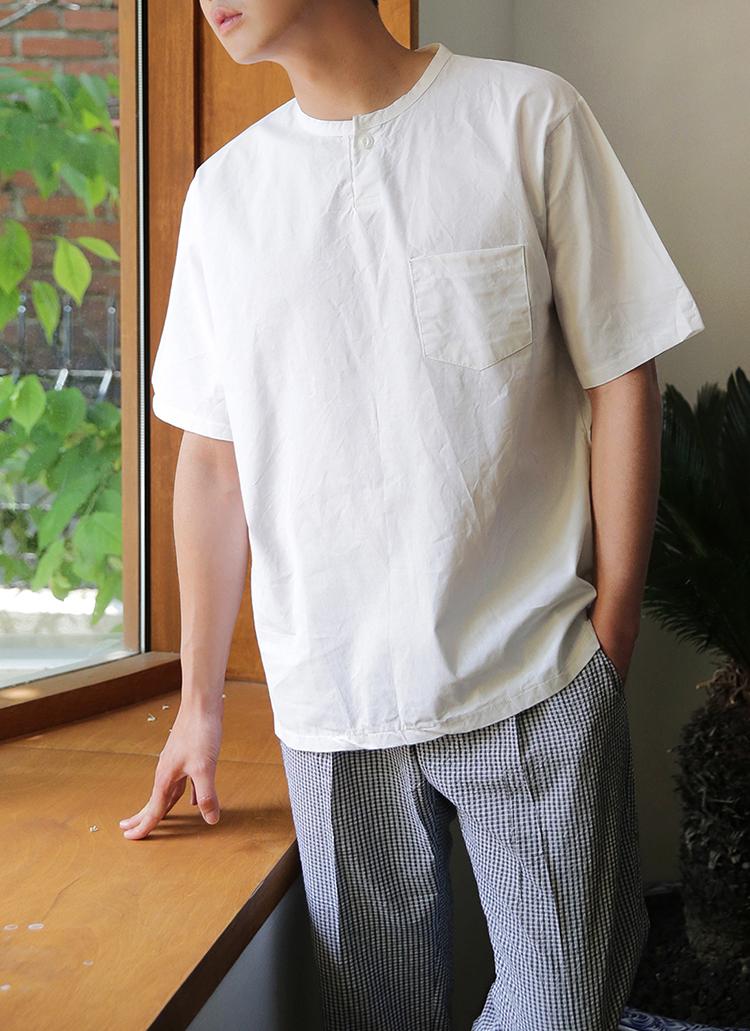 ワンポケットオーバーリネンTシャツ・全5色