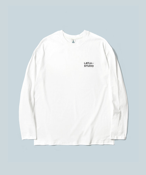 *DIAMOND LAYLA*アンコンディショナルラブベーシックL/STシャツT10ホワイト