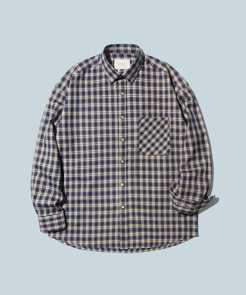 *DIAMOND LAYLA*オーバーサイズピオニーブルーチェックシャツS15
