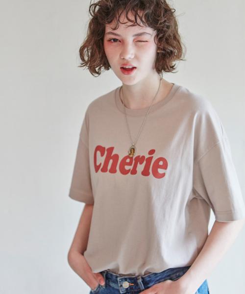 *CLIF*シェリーTシャツ(ベージュグレー)